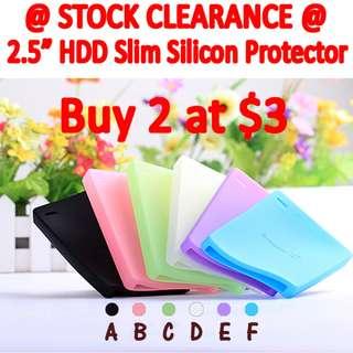 Ultra Slim Silicon Hard Drive Cover 2.5 inch
