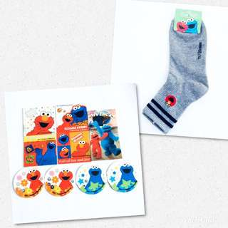 BN Elmo Socks & Fridge Magnets