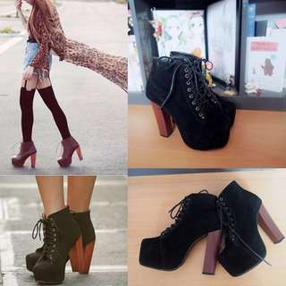Jeffery Campbell Inspired Black Suede Boots