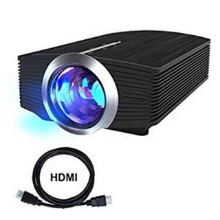 Home Theater Projector, Video Movie Projector with 1800 Lumens HD LED Projector for Laptop Smartphone iphone Theater Mini Video projector