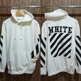 Sweater hoodie off white