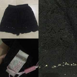 (JUAL RUGI) BLACK PATTERN PANTS