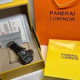 PANERAI Luxury Black Leather
