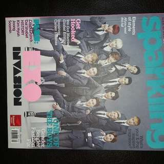 SPARKLING MAGAZINE EXO AND SHINEE COVER