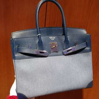 Hermes birkin 30 with canvas
