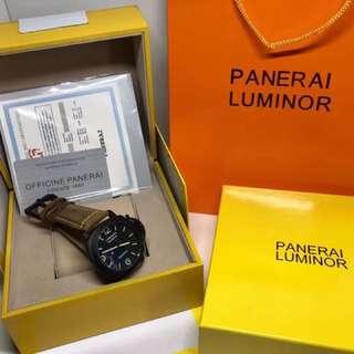 PANERAI Luxury Watch Brown Leather