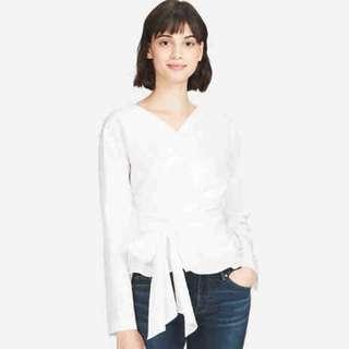 NEW Uniqlo 2-Way Long Sleeve Blouse