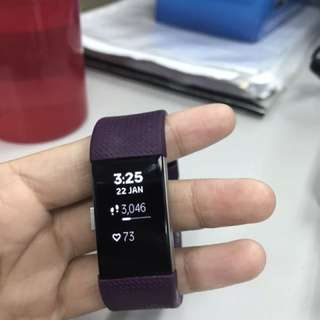 Fitbit Charge 2 plum small size