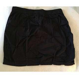 Alpha 60 black cotton skirt