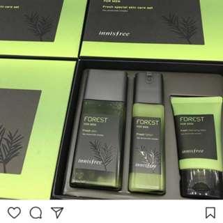 Innisfree FOREST for men set 清爽型