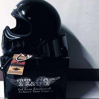 TT&co02 全罩式安全帽 亮黑