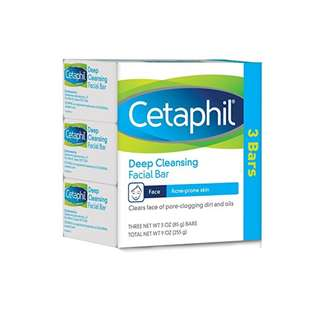 Cetaphil Deep Cleansing Facial Bar for Acne-Prone Skin, 9 Ounce (Pack of 3)