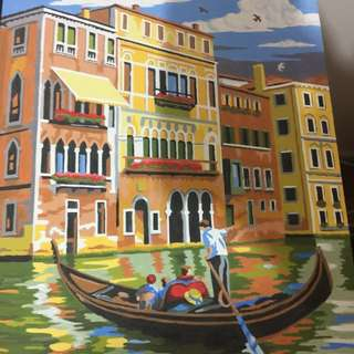Venice by Water - acrylic painting