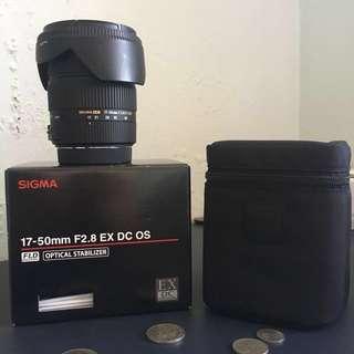 SIGMA 17-50mm f2.8 EX DC OS (CANON MOUNT)