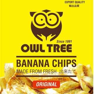 【現貨5入】OWL TREE 香蕉脆片 香蕉乾 韓國人氣美食 宿霧菲律賓 伴手禮 禮物 果乾 餅乾 零食 60g/包