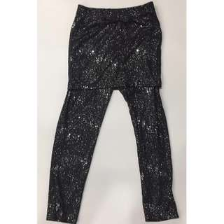 Monster High Glittery Skirt with leggings