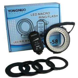 [BNIB] Yongnuo MR58 LED Macro Ring Flash