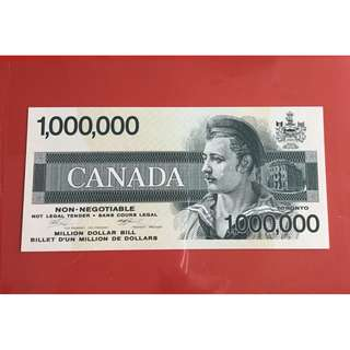 Canadian $1 million Novelty Banknote