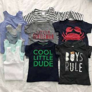 12-24 Months Toddler Boys Baby Shirt Tops Clothes Bundle Set