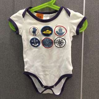 Baby Patch (Pumpkin patch) Sailor themed romper