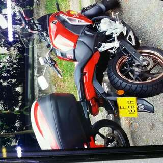 (  Honda  Cb190x  )   Nice bike with number  👍 F 186 R     Used 9 Mth Only