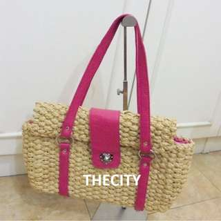 AUTHENTIC SAMANTHA THAVASA MEDIUM BASKET TOTE BAG