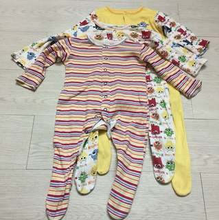 Mothercare 3pc set sleepsuit