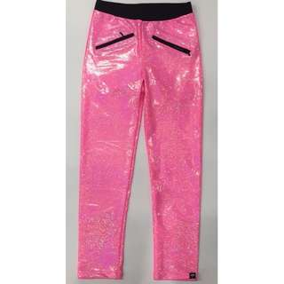 Shine Bright Neon Pink Leggings