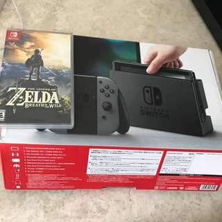 Nintendo Switch Grey with Zelda