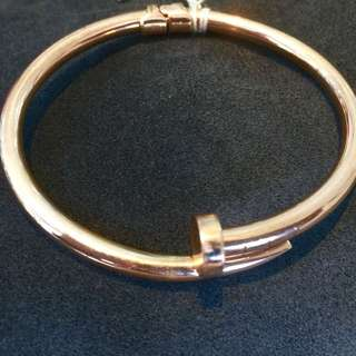 14k CARTIER Nail Bangle Inspired, Rose Gold