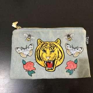 Typo Denim Tiger Pouch