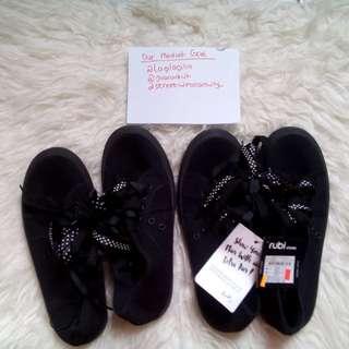 Rubi cotton on full black sneakers