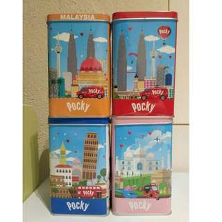 Pocky Tins - Set of Four