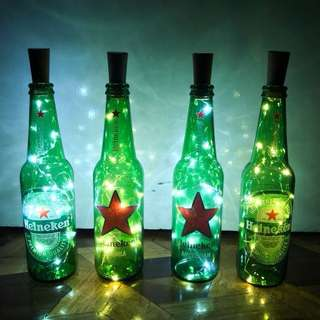 Heineken Bottle Lamps