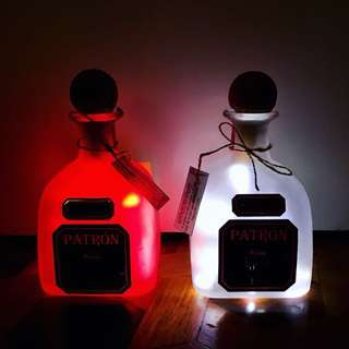 Patron and Absolut Bottle Lamps