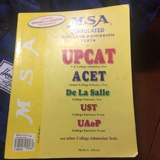 College Admission Tests practice book