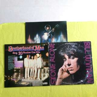 2LP. BILL WYMAN (ex:bassist of Rolling Stone)/BROTHERHOOD OF MAN. stone alone/ sing 20 number one hits. ( 2 for the price of 1) Vinyl record