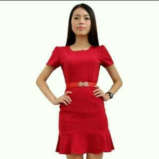 In stock BN Classy Red Slim Dress