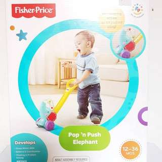 Fisher Price pop n push elephant