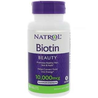 Natrol Biotin 10,000 mcg 100 tablets
