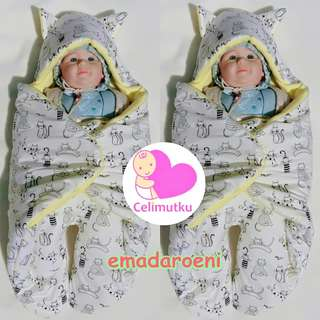 selimut bayi kaki karakter kucing lucu