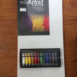 KCK canvas plus acrylic paint (set)