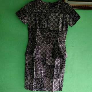 Dress mini batik eprise size s