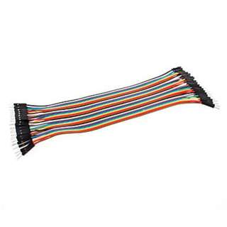 Male to Male 20cm 40P DuPont Color Jumper Wire