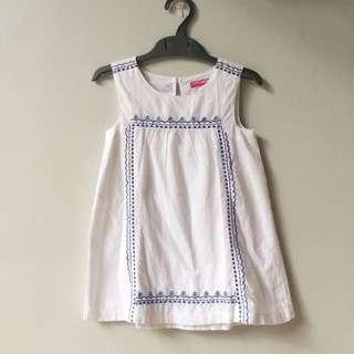 YOUNG DIMENSION size 2-3 tahunbaju dress putih anak cewek