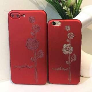 3D Floral Soft Case ( RED&BLACK )