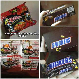 Samyang 2x Spicy Noodles & Snickers Chocolate For Sale!