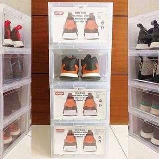 Hi-top drop front shoe box