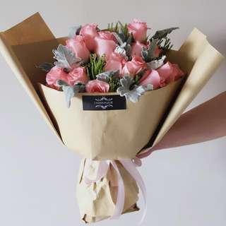 Rose Bouquet-Medium Size