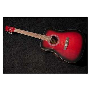 Hoffman Red Burst Full Body Guitar